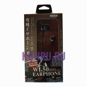 Наушники WK EARPHONE WI50 Черный