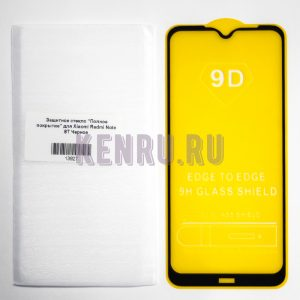 Защитное стекло Полное покрытие для Xiaomi Redmi Note 8T Черное