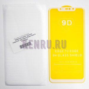 Защитное стекло Полное покрытие для Xiaomi Redmi Note 6 Pro Белое