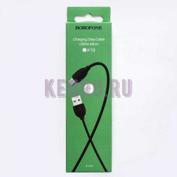 Borofone BX19 Кабель Benefit charging data cable for Micro Black