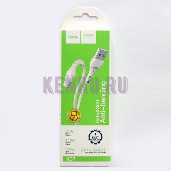 Hoco Кабель X37 Type-C Cool power charging data cable White