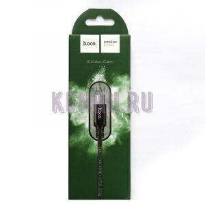 hoco X14 Кабель Times Speed Micro Charging Cable 1м Black