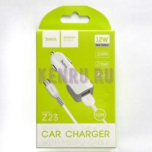 Hoco Z23 Автомобильное зарядное устройство + кабель microUSB