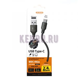 REMAX RC-06i-1m Data Cable Light Кабель iPhone 1м Черный