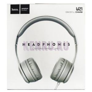 Hoco W21 Headphones One-button Remote Control Наушники большие Grey