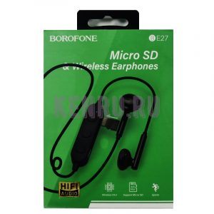 Borofone BE27 Наушники беспроводные Micro SD+Wireless Earphones Black