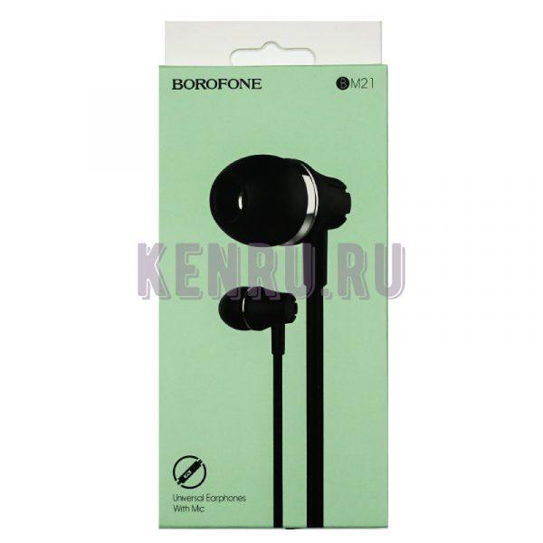 Borofone Наушники BM21 Gracetul universal earphones Черный