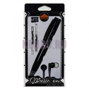 MP3 PEN Наушники + ручка + карта памяти 8 gb Черный