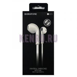 Borofone Наушники BM23 Bright sound universal Белый