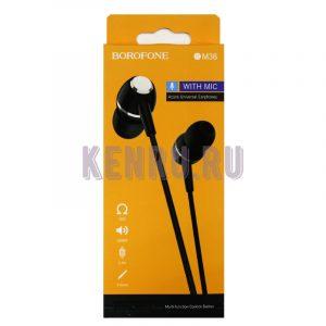 Borofone BM36 Наушники Acura Universal Earphones 1M Black