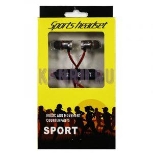 Наушники беспроводные sports headset красные