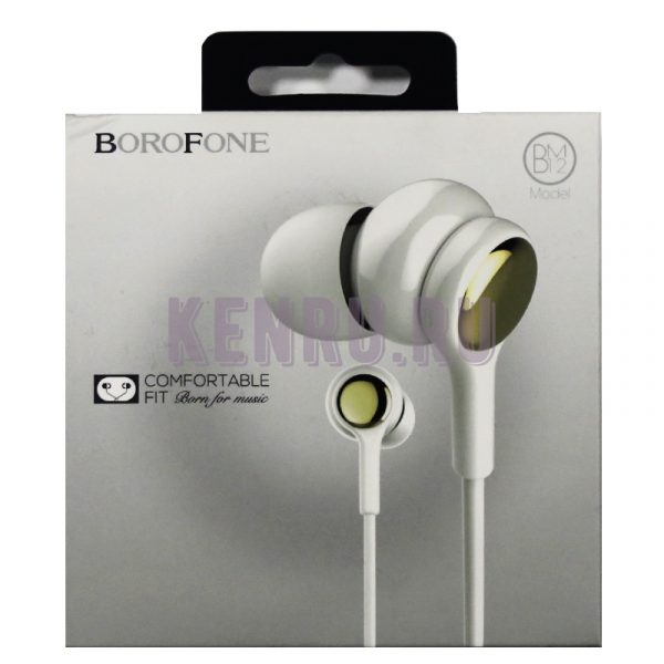 Borofone Наушники BM12 lightMelody universal wired Белый