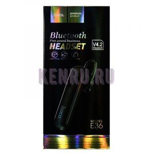 Hoco E36 Блютус гарнитура Headset Black