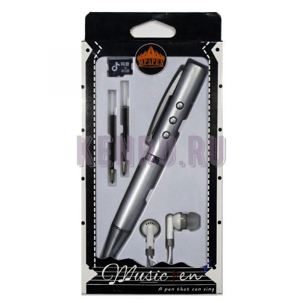 MP3 PEN Наушники + ручка + карта памяти 8 gb Белый