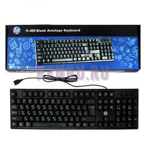 Клавиатура проводная Hp-880 USB Черная