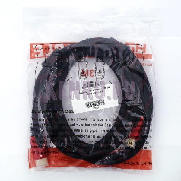 Кабель HDTV HDMI-HDMI 3M Черно-красный