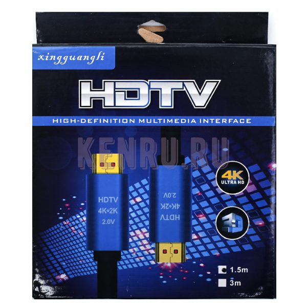 HDMI кабель v2.0 Vention Premium Black 4K HDR 1.5 метра