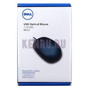 Мышь проводная оптическая DELL MS111 USB маленькая