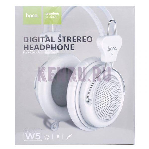 Hoco W5 Наушники Manno headphone White