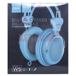 Hoco W5 Наушники Manno headphone Blue