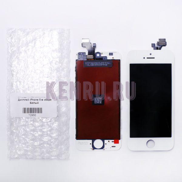 Дисплей для iPhone 5 в сборе Белый