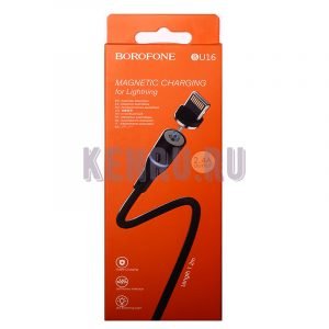 Borofone BU16i Кабель магнитный Magnetic charging for Lightning 1,2м Black