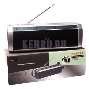 KMS-E63 Колонка+радио Серебро