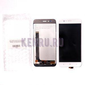 Дисплей для Xiaomi Mi A1 Mi 5X в сборе с тачскрином Белый