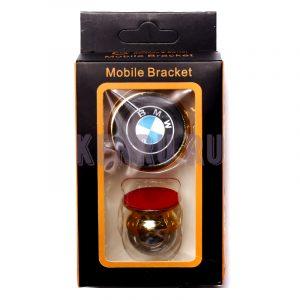 Автомобильный держатель магнитный на торпеду шаровый СЕРЕБРО MOBILE BRACKET