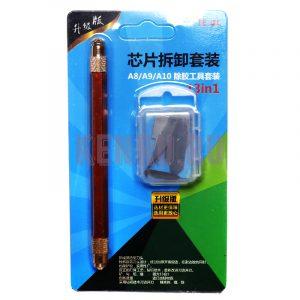 Инструмент для снятия микросхем TE-01 (13 насадок) бронза