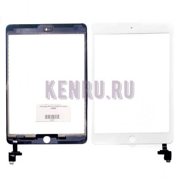 Тачскрин для iPad mini 3 White comp с HOME