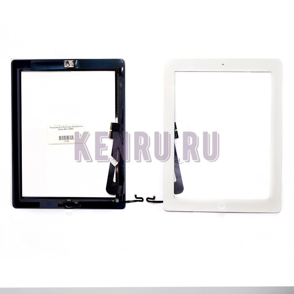 Тачскрин для iPad 3 для iPad 4 White Comp AA с HOME
