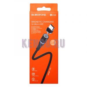 Borofone BU16m Кабель магнитный Magnetic charging for Micro 1,2м Black
