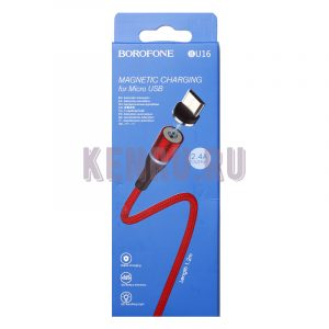 Borofone BU16m Кабель магнитный Magnetic charging for Micro 1,2м Red