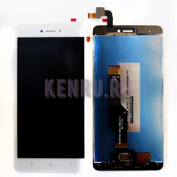 Дисплей для Xiaomi Redmi Note 4X Note 4 Global Version в сборе с тачскрином Белый