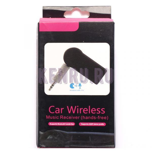 Автомобильный музыкальный приемник Car aux Bluetooth music receiver Черный