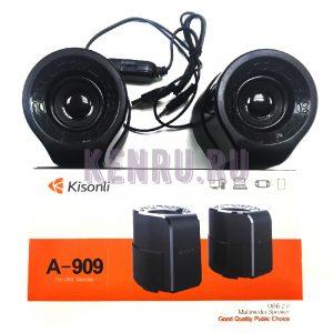 Колонки 2.0 Kisonli A-909 Черные/Красные