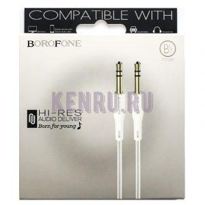 Borofone BL1 Кабель Аукс 1м White