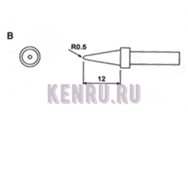 Жало индукционных паяльников Quick Kasadi Yaogong Temp Bonkonte 203 203H 204 204H 376 376D 712 R0.5 12mm