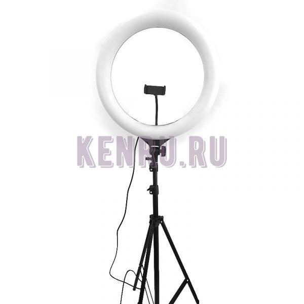 Кольцевая светодиодная лампа RGB MJ 38 со штативом и пультом