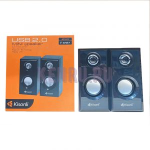 Колонки 2.0 Kisonli T-001 Mini speaker Черные