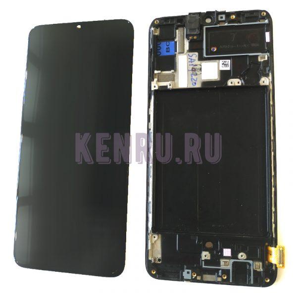 Дисплей для Samsung A705F A70 модуль Черный - OR