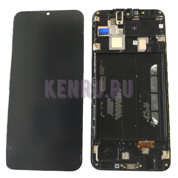 Дисплей для Samsung A305F A30 модуль Черный - OR