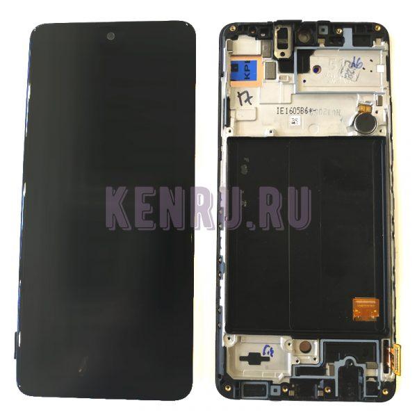 Дисплей для Samsung A515F A51 модуль Черный - OR