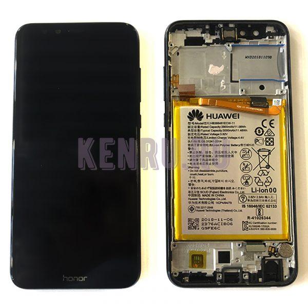 Дисплей для Huawei Honor 9 Lite в сборе с тачскрином Черный - OR в корпусе