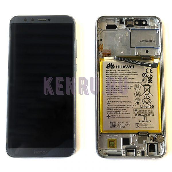 Дисплей для Huawei Honor 9 Lite в сборе с тачскрином Синий - OR в корпусе