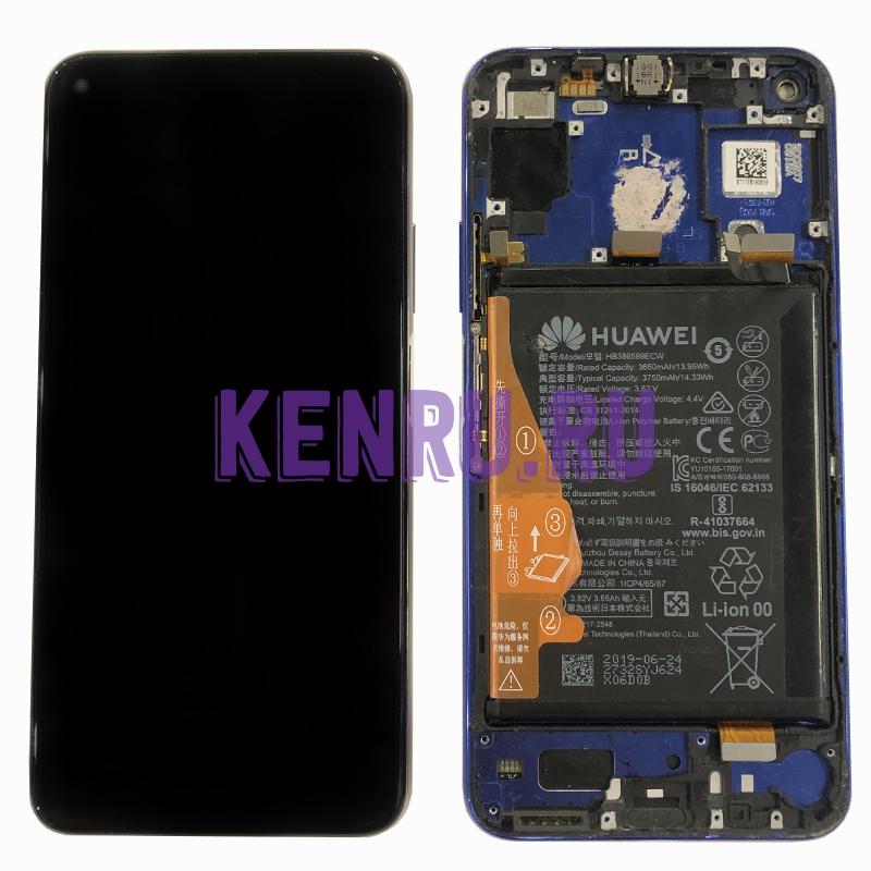 Дисплей для Huawei Honor 20 Nova 5T в сборе с тачскрином - OR в корпусе Черный