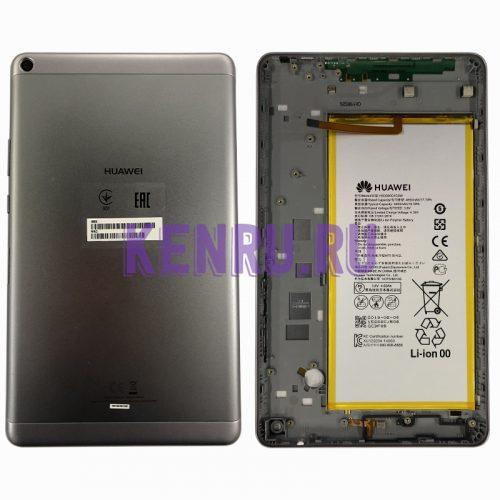 Задняя крышка для Huawei MediaPad T3 KOB-L09 LTE с акб HB3080G1EBW - Серый
