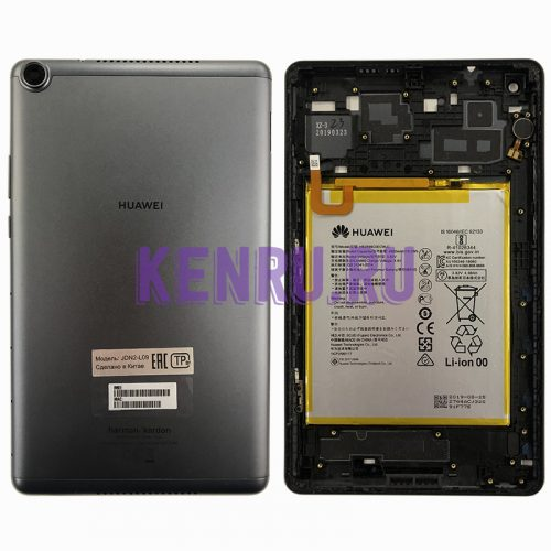 Задняя крышка для Huawei MediaPad M5 Lite JDN2-L09 8 с акб HB2899C0ECW-C - Серый