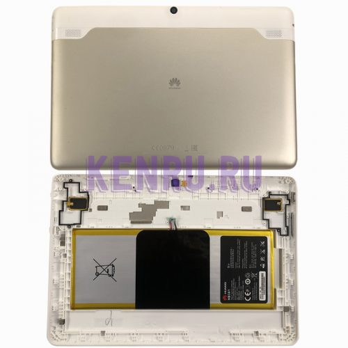 Задняя крышка для Huawei MediaPad 10 Link+4G с акб HB3X1 - Золото